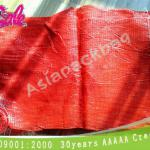 AP-T340 red onion mesh bags, African tubular circular pp polypropylene mesh bags with label for potatoes
