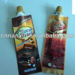 liquid chocolate small spout pouch