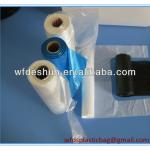 clear t-shirt bags /vest carriers on roll for supermarket