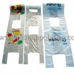 Transparent shirt plastic flat bag on roll for fruit packing