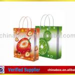 fruit paper packaging bag with plastic handle and printing
