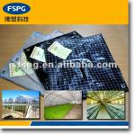 Laminated plastic woven greenhouse fabric
