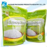 TOP QUALITY Safety Food Grade Gravure printed food packaging plastic bag for rice packaging with ziplock and bottom