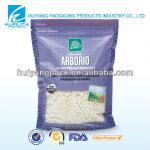 Back seal bag with window for rice