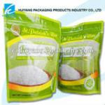 plastic packaging bag for rice/plastic rice packaging bagrice packaging with ziplock and bottom