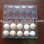 Disposable blister PET/PVC/PS/PP transparent egg plastic tray