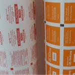 Disinfected Al foil paper roll for alcohol cleaning pads