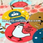 Round cartoon hang tag for suitcase