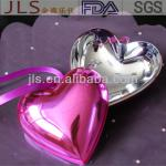 8cm Heart-shaped acrylic cosmetic packaging boxes