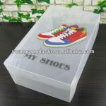 Clear shoe box with printing