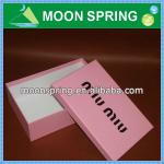 Moonspring cardboard shoe box wholesale