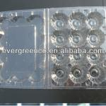 12 cavities plastic quail egg tray