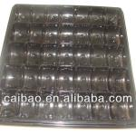 Disposable plastic tray for chocalate