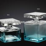 50ml -100ml green square empty glass perfume bottle