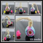 2014 hottest polymer clay perfume glass bottle with cork