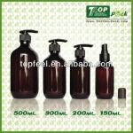 Wholesale empty shampoo plastic bottle 150/200/300/500ml