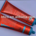 plastic tube with label for cosmetics