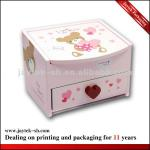 Pink Bear Paper Cosmatic Packaging Box