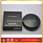 samll black glossy cosmetic paper box with white logo
