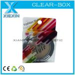 small compact powder packaging box clear pvc