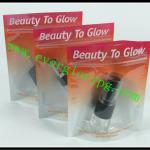 standing aluminum foil zip lock bag for cosmetic pack