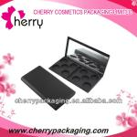 Square plastic cosmetic eyeshadow case packaging