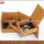 spin jewelry high capacity storage bamboo jewelry box