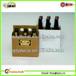 Cardboard 6 Pack Bottle Brown Beer Carrier
