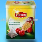 lipton tea tin can