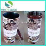 tall metal coffee tin with lids,round coffee storage metal box