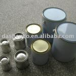 Round metal chemical paint cans for different capacity