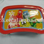 Metal fruit serving tray with two legs
