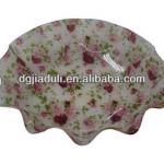 New design printed flower acrylic fruit tray