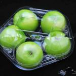 Plastic fruit tray packaging for apple