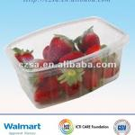 Oblong Plastic Fruit Container with Cover(QS certified)(china)
