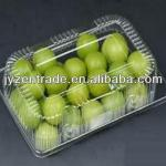 Clear PET plastic food blister packaging