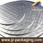 Wholesale round Silver gold foil cake boards