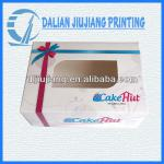 Wholesale printing glossy window paper cake boxes