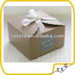 OEM BROWN cardboard Baking Packaging kraft paper cake packaging Boxes cookies box 14.5X14.5X8cm Wholesale custom design
