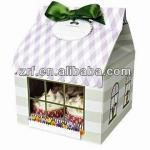 2013 Cheap Paper Cake Packaging Box with Handle