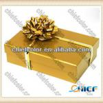 Glossy Golden Chocolate Food Gift Box