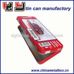 wholesale metal tin boxes with hinged lids