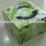 Custom paper cake box for cake gift with handle
