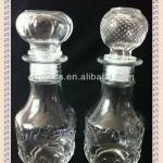 factory directly hot sale 250ml 250g clear individualized design glass wine bottle decorative glass bottle