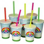 12oz and 16oz printed milkshake paper cups