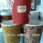 Disposable paper cups for hot and cold drink