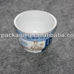 Disposable PS plastic round yoghurt cup