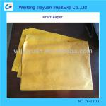 30gsm gold yellow color Ribbed kraft paper