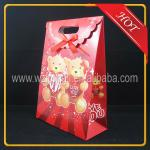 Cartoon cute design resealable handle wedding candy chocolate christmas gift paper bag