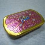small slide lid mint tin box with plastic tray